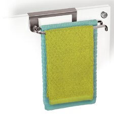 Over Cabinet Door Organizer with Pivoting Wall Mounted Towel Bar