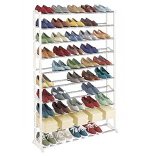 50 Pair 10 Tier Shoe Rack
