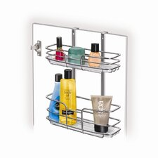 Over Cabinet Door Organizer with Double Shelf