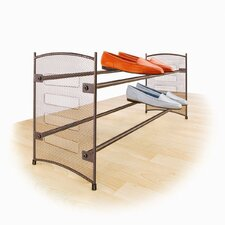 <strong>Lynk</strong> Expandable/Stackable Mesh Sided Shoe Rack