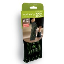 Green Grippy Yoga Socks