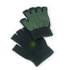 Green Grippy Yoga Gloves