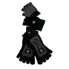 <strong>Gaiam</strong> Grippy Yoga Glove and Sock Set