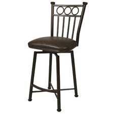 "<strong>Pastel Furniture</strong> Bostonian 30"" Swivel Bar Stool with Cushion"