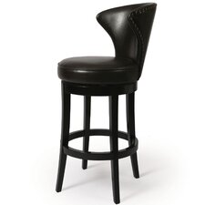 "Venice 26"" Bonded Leather Barstool in Brown"