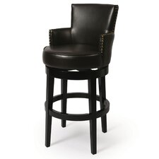 "Zadar 30"" Bonded Leather Barstool in Brown"