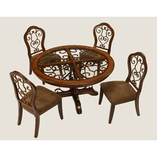 <strong>Pastel Furniture</strong> Carmel 5 Piece Dining Set