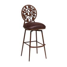 "<strong>Pastel Furniture</strong> Brownsville 30"" Swivel Bar Stool with Cusion"