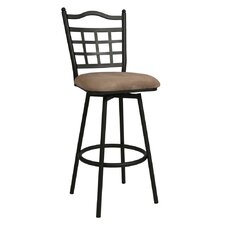 "<strong>Pastel Furniture</strong> Geneva 26"" Swivel Bar Stool with Cushion"