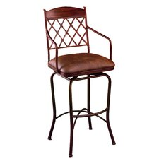 "Napa Ridge 26"" Swivel Bar Stool with Cushion"