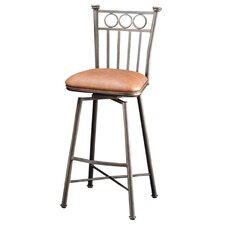 "Bostonian Bronze 26"" Swivel Barstool w/ Toast Fabric"