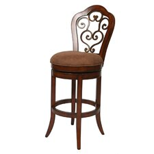 "Carmel Sepia 26"" Swivel Bar Stool with Cushion"