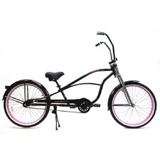 "26"" Single Speed Stretch Cruiser with Ape Hanger Handlebar"
