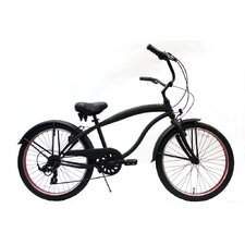 "Boy's 24"" 7-Speed Beach Cruiser"
