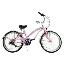 "<strong>Greenline Bicycles</strong> Girl's 24"" Beach Cruiser Bike"
