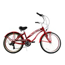 "Girl's 24"" Beach Cruiser Bike"
