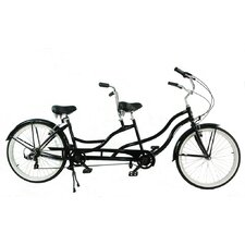 <strong>Greenline Bicycles</strong> Independent Pedaling 7-Speed Tandem Beach Cruiser