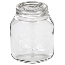 34 Oz. Large Transparent Glass Wide Mouth Mason Canning Jar
