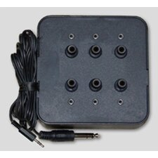 Six Position Socket Stereo Jack Box in Black