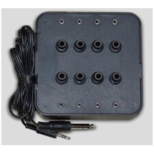 Eight Position Socket Stereo Jack Box in Black