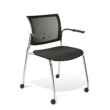 <strong>Jesper Office</strong> Mesh Stackable Guest and Conference Chair with Castors