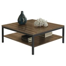 Square Coffee Table with Shelf