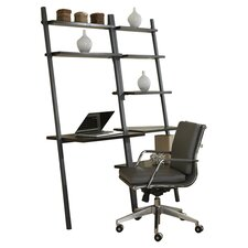 Jesper Office Parson Ladder Desk with Bookcase