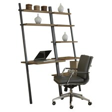Parson Ladder Five Shelf Bookcase with Writing Desk