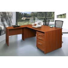 Pro X - L-Shaped Executive Desk with Mobile Pedestal