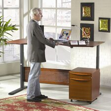 "Motorized Standing Desk in Wood 75"" Top"