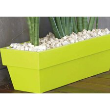 <strong>Smart & Green</strong> Fang Conic Jardiniere Lacquered Rectangular Flower Pot Planter