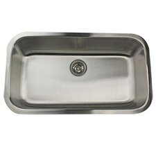 "32.38"" x 18.88"" Single Bowl Stainless Steel Kitchen Sink"