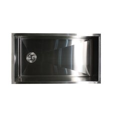 "32"" x 18"" Zero Radius Stainless Steel Kitchen Sink"