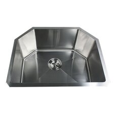 "23.75"" x 18.75"" Small Radius Stainless Steel Kitchen Sink"