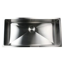 "36"" x 18"" Small Radius Stainless Steel Kitchen Sink"