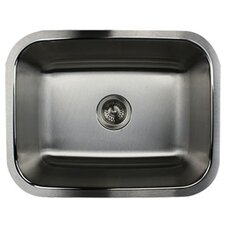"23.19"" x 17.94"" Single Bowl Stainless Steel Kitchen Sink"