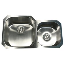 "35.38"" x 20.13"" x 8"" Double Bowl Kitchen Sink"