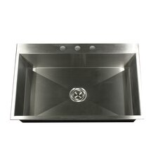 "33"" x 22"" Self Rimming Single Bowl Kitchen Sink"