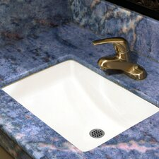 Vitreous China Rectangular Undercounter Bathroom Sink