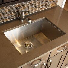 "28"" x 18"" Zero Radius Large Single Bowl Undermount Kitchen Sink"