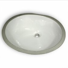 <strong>Nantucket Sinks</strong> Oval Glazed Ceramic Bathroom Sink