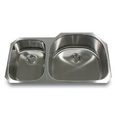 "37.5"" x 19"" Double Bowl Undermount Kitchen Sink"