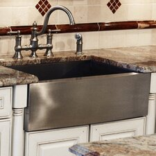 "33"" x 21"" Zero Radius Single Bowl Apron Undermount Kitchen Sink"