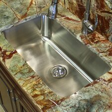"<strong>Nantucket Sinks</strong> 30"" x 18"" Elongated Single Bowl Undermount Kitchen Sink"