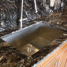 "32"" x 19"" Zero Radius Single Bowl Undermount Kitchen Sink"