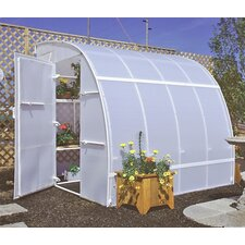 Harvester 8' H x 8.0' W x 16.0' D Polyethylene 3.5 mm Greenhouse