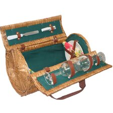 Cannon Picnic Basket in Hunter Green Lining