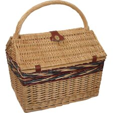 <strong>Sutherland Baskets</strong> Farmhouse Picnic Basket in Blue Plaid