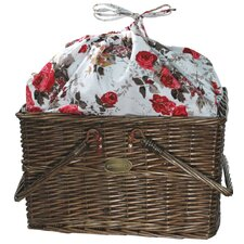 Sienna Rose Picnic Basket in Red Roses