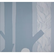 Aarni Wallpaper in Grey by Maija Louekari